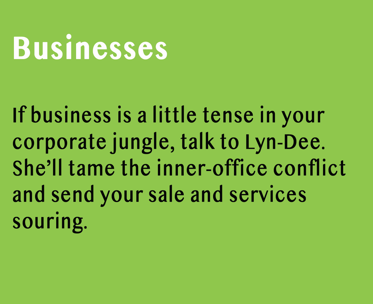Business Training with Lyn-Dee Eldridge